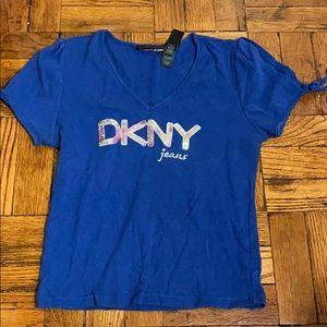 2 for $15 DKNY blue cold shoulder top